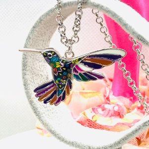 Enamel Bird Necklace